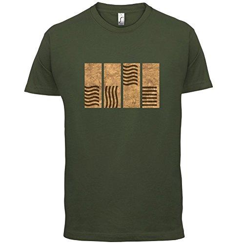 4 Element Stones - Herren T-Shirt - 13 Farben Olivgrün