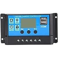 12V / 24V Panel Solar Cargador Controlador Regulador de batería USB LCD Sistema de Carga Solar Controlador con Temporizador Sensor de luz