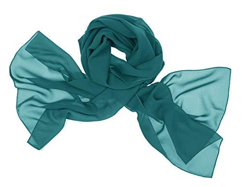 Bridesmay donna chiffon scialli da sposa prom wraps sera sciarpe dark green m 190cm*70cm