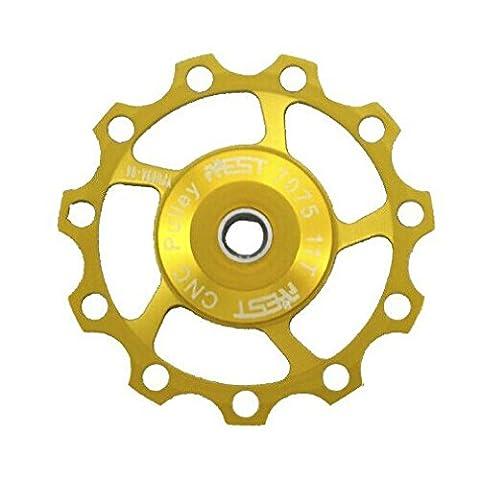 derailleur pulley - AEST 11T Jockey Wheels Derailleur Bike Pulley Shimano & Sram XX, XO, X9, X7 gold