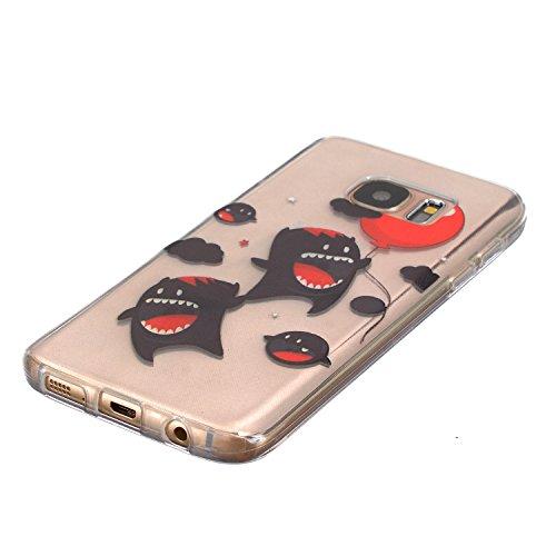 iPhone 6 6S (4,7 Zoll) Custodia, Cozy Hut Custodia in Silicone per iPhone 6 6S (4,7 Zoll) Cover Gomma TPU Custodia Protettiva Cover Trasparente Chiaro Soft Silicone Case Bumper Cover Morbida Flessibil Little Monsters