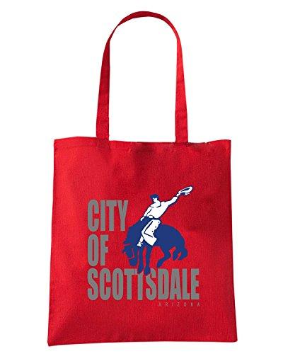 T-Shirtshock - Borsa Shopping TM0064 City of Scottsdale citta Rosso