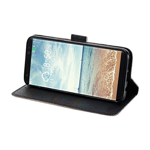 Galaxy S8 Plus Hülle, Samsung Galaxy G9450 Case, Rosa Schleife Samsung Handyhülle PU Ledertasche Etui Flip Wallet Cover Schutzhülle Premium TPU Silikon Bumper Bookstyle Magnetverschluss mit Glitzer Bl a - Gold Mandala
