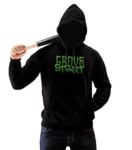 Grove Street Green Logo Homme Pullover Hoodie M