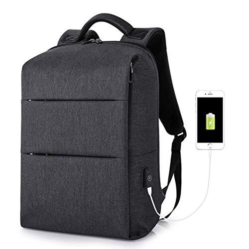Dwgyq USB-Lade-Reiserucksack, Herrenrucksack Sport- und Freizeitcomputertasche für Männer und Frauen College Student Bag,Black