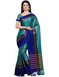 Mrinalika Fashion Women's Cotton Silk Saree With Blouse Piece (Multi-Coloured_KVS)