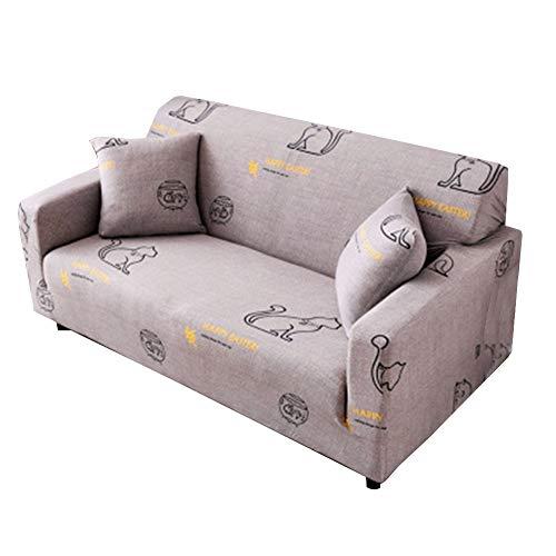 Shaoyao Sofa Überwürfe Sofabezug 1/2/3/4-Sitz-Überwurf Stretch Elastische Couchbezug Sofahusse Schutzüberzug Abdeckung Pillow Cover X 1 36 4 Sitzer(235-300Cm/92-118)