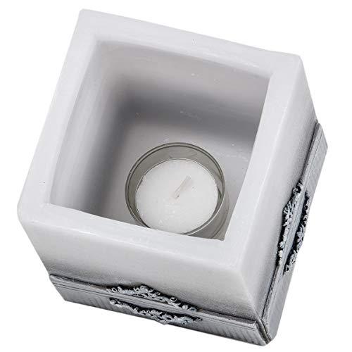 holzalbum Wachslampion Marmor Kerze Teelichthalter Ständer Wachs Osterkerze Geschenk