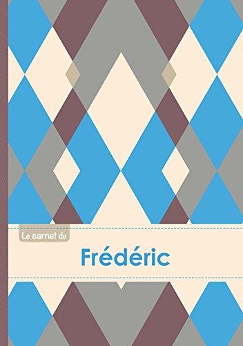 Le carnet de Frédéric - Lignes, 96p, A5 - Jacquard Bleu Gris Taupe (Adulte)