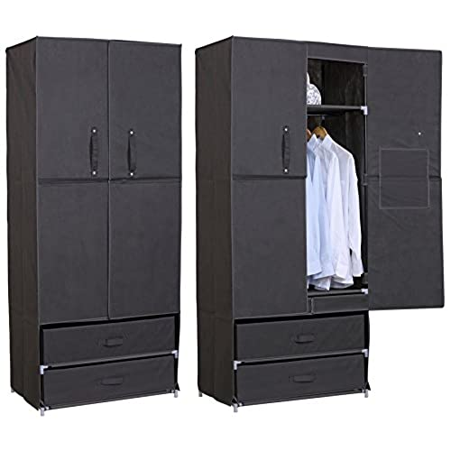 armoire tissu penderie. Black Bedroom Furniture Sets. Home Design Ideas