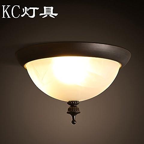 N.DFB American luce da soffitto camera da letto con balcone che fa aderire il corridoio per il corridoio cucina wc bathroomLedContinental round lampade retrò, incluso3WledThe sfera