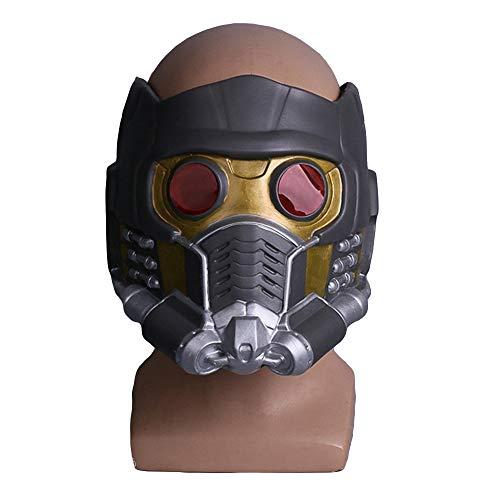 Wächter der Galaxie Star-Lord Maske Helm Kostüm Cosplay Vollmasken für Halloween Maskerade Party Ball Prom Mardi,Latex A-OneSize
