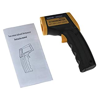 PETUNIA ANENG AN550A Infrared Thermometer LCD Digital Display Laser Temperature Meter - Black&Yellow