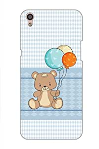 AMAN Teddy Berry Lite Blue 3D Back Cover for Oppo F1 Plus