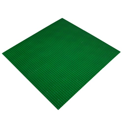 Katara 1672 - Kompatible Bauplatte 40cm*40cm / 50x50 Noppen / schwarze Grund-Platte zum Bauen / kompatibel zu Lego, Q-Bricks, Asmodee, Sluban und anderen Markenherstellern - Grün (Lego Star Wars Sets $50)