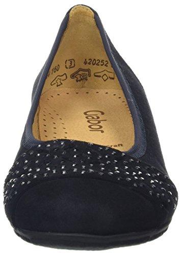 Gabor Fashion, Ballerines Femme Bleu (pazifik 16)