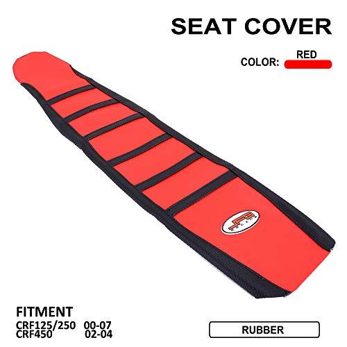Gripper Soft Moto Housse de Selle Pour Honda CR125R CR250R 00-08 CRF450R 02-04 Rouge / Noir