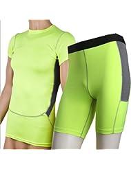 YiJee Conjunto Camiseta de Manga Corta y Pantalones de Running para Hombre