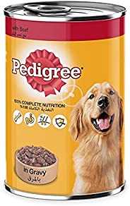 Pedigree Beef Chunks in Gravy, Wet Dog Food, Can, 400 gm