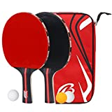 kuaetily Set da tennis da tavolo, Racchetta da Ping Pong 2Racchette da ping pong 3tavolo palla da tennis