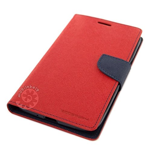 Tingtong Mercury Goospery Diary Flip Cover for Vivo Y55L – (Red)
