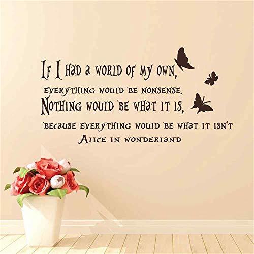 Alice im Wunderland Wandtattoo Cheshire Cat Sprüche ich bin nicht verrückt Kinder Vinyl Aufkleber Kinderzimmer Wand Zitat Aufkleber -