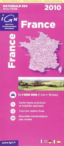 France : Carte indéchirable 1/1 000 000