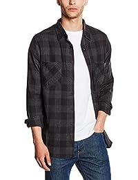 Urban Classics Checked Flanell Shirt, Holzfällerhemd für Herren und Jungen, Flanellhemd Langarm mit Aufgesetzten Brusttaschen