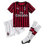 PUMA ACM Home Mini-Kit Sponsor Logo with Socks, Maglia Calcio Unisex Bambini, Rosso (Tango Red/Black), 104