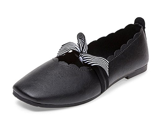 MEILI Süßigkeits-Farbband-wasserdichte Dame Casual Fashion Shoes Flachfersen-gesetzter Fuß-Bogen, US5.5/EU35/UK3.5/CN35 (Und Farbband Bogen)