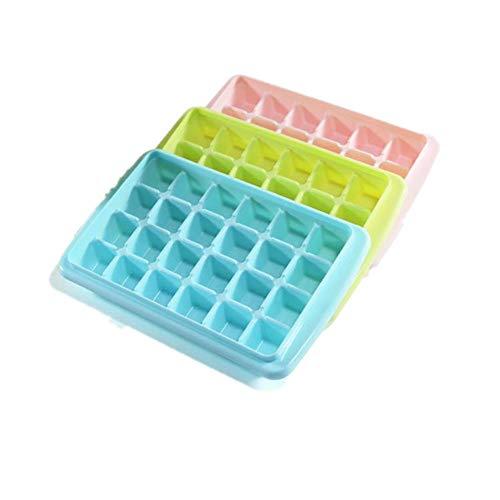 Trada Eiswürfelschale, EIS Würfel Behälter Kasten mit Deckel Getränk Gefrierschrank Heimgebrauch Vorratsbehälter Eiswürfel Box Eiswürfelbehälter Eiswürfelform, für Partys und Bars (Blau)