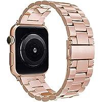 Simpeak für Apple Watch Armband 38mm (40mm Series 4), Uhrenarmband Edelstahl Ersatz delstahl Schlaufe SmartWatch Armbänder mit Metallschließe für Apple Watch Series 4/3 / 2/1