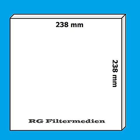 10 Filter/Ersatzfilter für Limodor Lüfterserie compact - 238x238 mm - G3 - erhöhte Staubspeicherfähigkeit - geräuschdämmend
