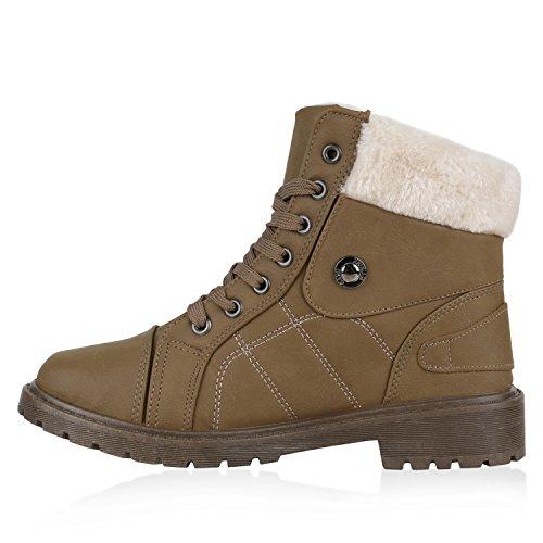 Damen Schuhe Outdoor Boots Khaki Khaki