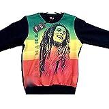 Tiempo es Dinero Bob Marley para Hombre Sudadera, Hip Hop Rap G Bling Street Dance Jumper Bob Marley A Extra-Large