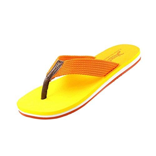 Baymate Unisex Erwachsene Zehentrenner Paare Allmählich Farbe Strand Sandalen Damen Gelb