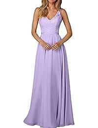 La Marie Braut Edel Spitze Chiffon Champagner Brautjungfernkleider  Abendkleider Partykleider… 4d43f45379