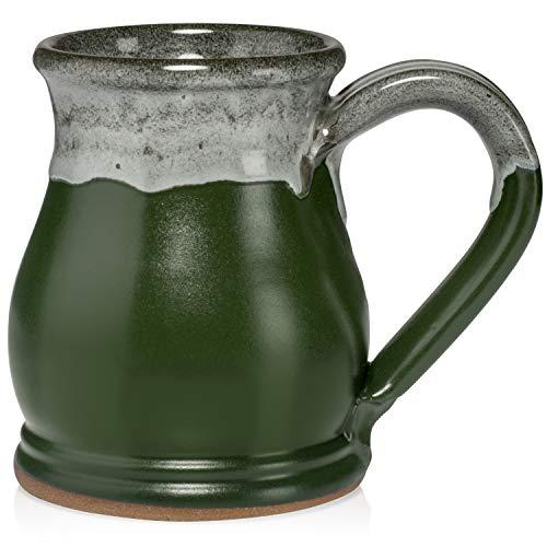 Uncommon Clay Potbelly Kaffeetasse, handgemacht in den USA Sage Green/White - Sage Green Coffee