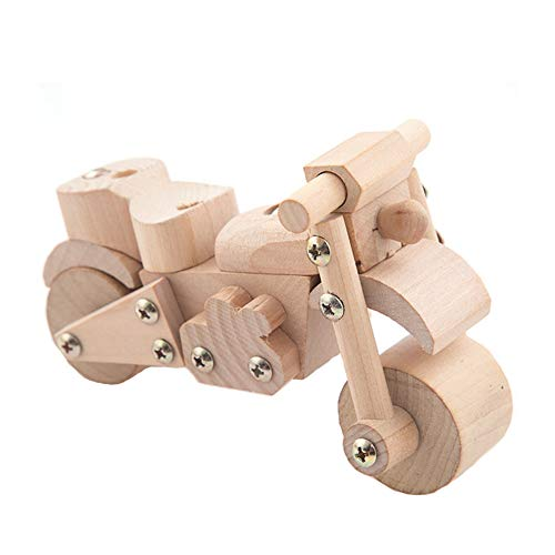 TrifyCore 3D-Holz-Modell Spielzeug Kit Build-Car Kit aus Holz 3D-Puzzles Auto-Modell-Kits pädagogisches Spielzeug für Kinder Geburtstags-Geschenk Motorrad 1Set (Motorrad-build-kit)