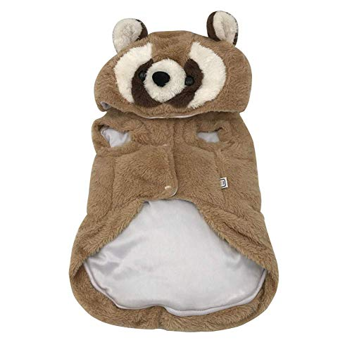 Pet Elf Teddy-Kleidung, Haustier-Kleidung, Dicker Waschbär, zweibeiniger Baumwollmantel, Teddy-Kleidung, Paparazzi, weich, große Kleidung, Wandern Joggen