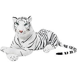 BRUBAKER Peluche Tigre de Color Blanco de 75 cm