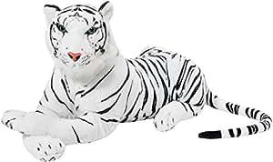 BRUBAKER - Peluche blanc Tigre - 75 cm