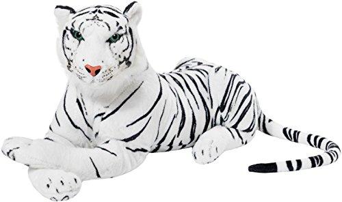 BRUBAKER Tigre bianca di peluche - 75 cm