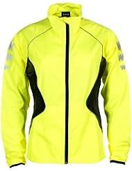 Laufjacke Damen -Winddicht Atmungsaktiv und Wasserabweisend - WOWOW Dark Jacket 2.0 - Reflektierend und fluoreszierend