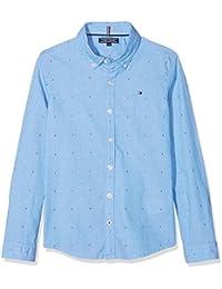 Tommy Hilfiger Dobby Shirt L/S, Camisa para Niños
