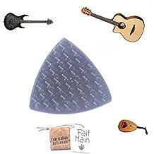 "Mediator para guitarra baja (Fibra de Carbon Approx.20x 20x 2mm ""hecho a mano y otro Instruments de Música Fulle Carbon Fiber Guitar Pick For Guitar Bass Banjo Mandolina Balalaika bousouki Hand Made"