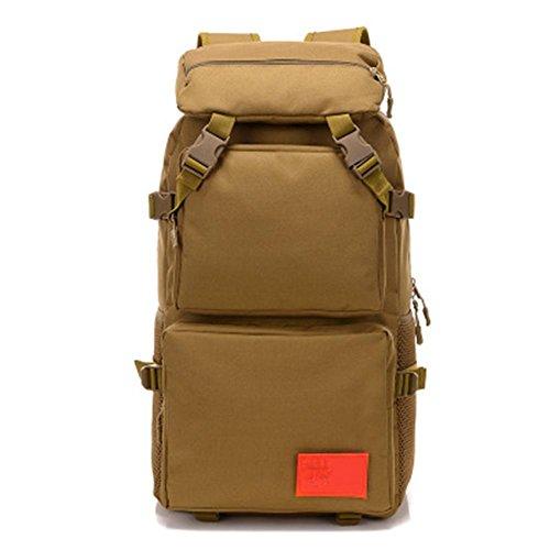 Rucksack 50L Hochleistungs Tactical Rucksack Camouflage Stil wasserdicht täglich Wandern Outdoor Rucksack Khaki