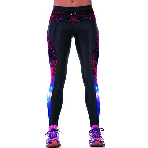 ab0e396d46c708 Feidaeu Pantalón Deportivo para Mujer Pantalón Deportivo Galaxy Imprimir  Cintura elástica Zapatillas Deportivas para Correr