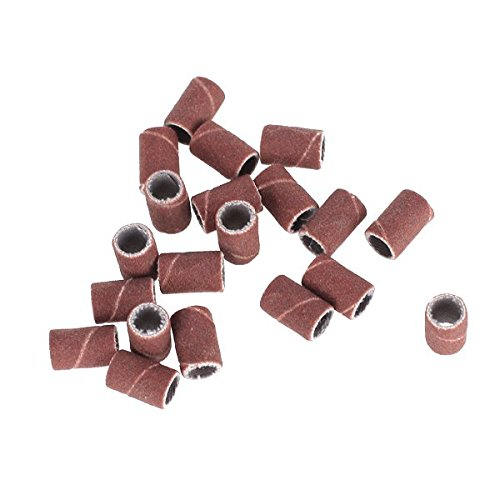 Imported 20Pcs 180 Grit Sanding Bands Replacement Bits for Nail Art Drill Machine  available at amazon for Rs.140