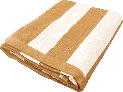 Groß Cabana Streifen Strandtuch-Schnell trocknend Baumwolle Leicht Sommer Strand Decke Handtuch-Made mit 100% Türkische Baumwolle, 88,9x 177,8cm Vanilla - Beige - Cabana Streifen Strand Handtuch